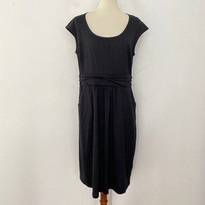 NEW Boden 12L Cap Sleeve Midi Jersey Knit Dress